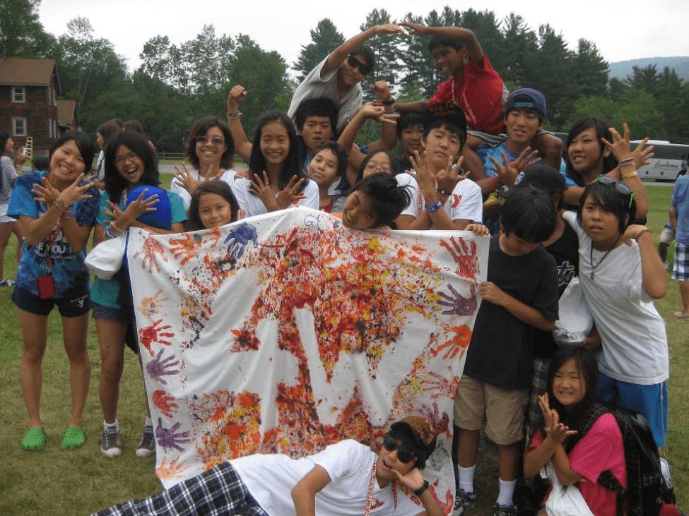 在米日系人・日本人の為のキャンプカウンセラーとして3カ月弱Catskill Mountainsに滞在した時の写真。右上が長倉さん。