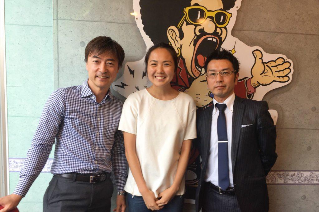 左から、ゲスト豊田圭一さん、笹原、ゲスト海渡寛記さん